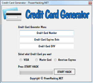generador de tarjetas de credito