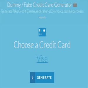 generador de tarjetas de credito falsas