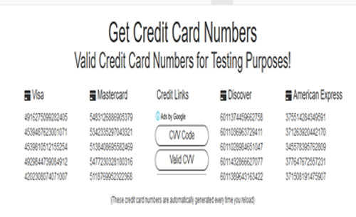 generador credit card numbers