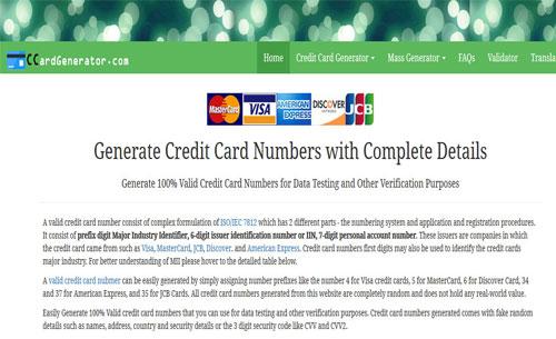 credit card Generator visa