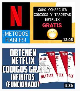codigos de tarjetas netflix